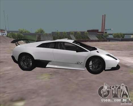 Lamborghini Murcielago LP670-4 SV para GTA San Andreas vista traseira