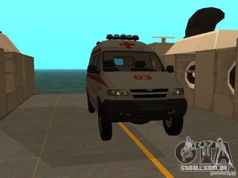 UAZ Simba SC ambulância para GTA San Andreas vista direita