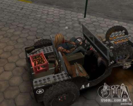 Willys Hot-Rod para GTA 4 traseira esquerda vista