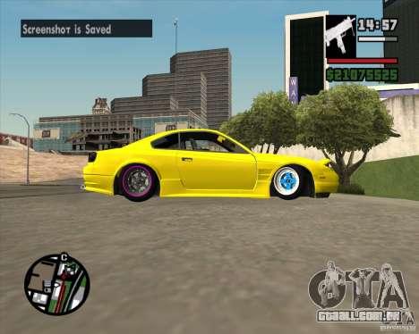 Nissan S330SX Japan SHK style para GTA San Andreas vista interior