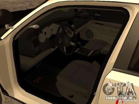 Dodge Charger RT Police para GTA San Andreas vista traseira
