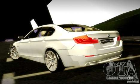BMW 550i F10 para GTA San Andreas vista interior