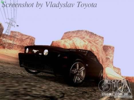 Ford Mustang GT 2011 Unmarked para GTA San Andreas esquerda vista