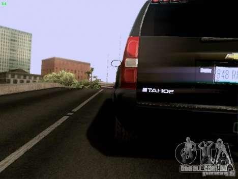 Chevrolet Tahoe 2009 Unmarked para GTA San Andreas vista interior