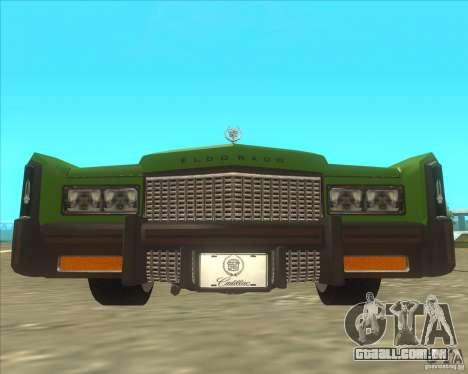 Cadillac Eldorado para GTA San Andreas vista direita