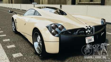 Pagani Huayra 2011 v1.0 [RIV] para GTA 4 traseira esquerda vista