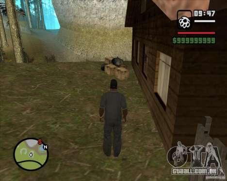 Casa caçador v 2.0 para GTA San Andreas quinto tela