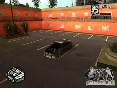 Ford Sierra Drift para GTA San Andreas vista traseira