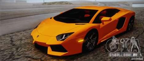 Lamborghini Aventador LP700-4 Final para GTA San Andreas interior