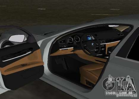 BMW 750 Li para GTA Vice City vista superior