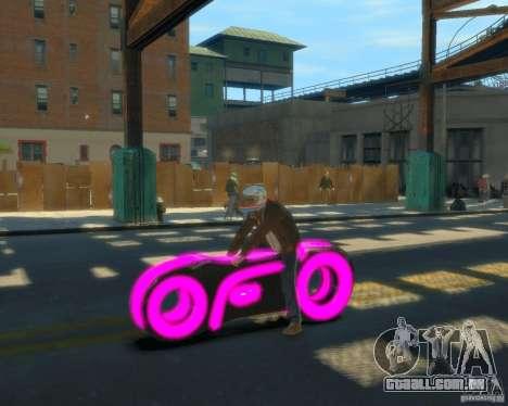 Motocicleta do trono (néon rosa) para GTA 4 esquerda vista