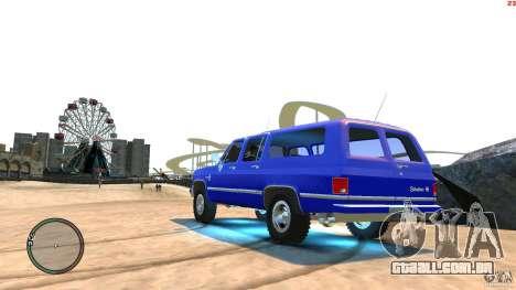 Chevrolet Suburban 1986 para GTA 4 esquerda vista