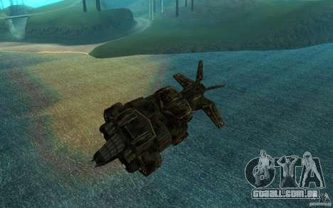 O serviço de transporte do jogo Aliens vs Predat para GTA San Andreas