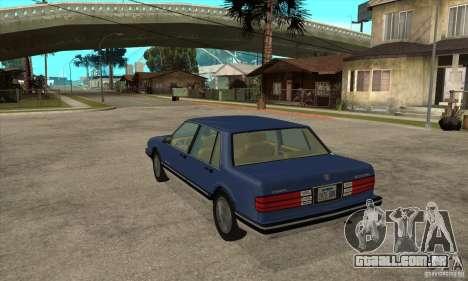 Pontiac Bonneville 1989 para GTA San Andreas traseira esquerda vista