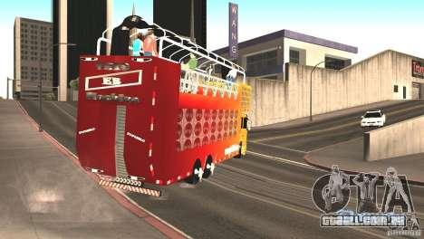 Scania 93H 6x2 Trio Eletrico para GTA San Andreas vista direita