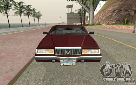 Chrysler Dynasty para GTA San Andreas vista direita