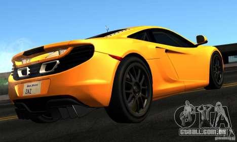 McLaren MP4-12C TT Black Revel para GTA San Andreas esquerda vista
