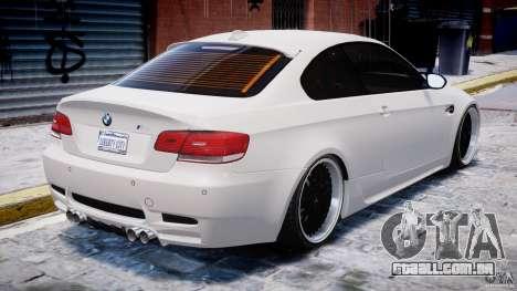 BMW M3 Hamann E92 para GTA 4 motor