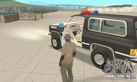 Chevrolet Blazer Sheriff Edition para GTA San Andreas vista interior