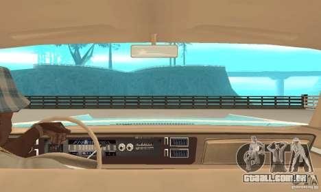 Chrysler New Yorker 4 Door Hardtop 1971 para GTA San Andreas vista traseira