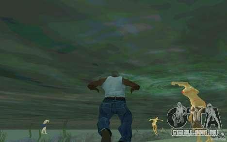 As pessoas são capazes de nadar para GTA San Andreas segunda tela