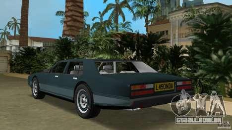 Aston Martin Lagonda, (I) 5.3 (1976-1997) para GTA Vice City vista traseira esquerda