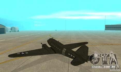 C-47 Skytrain para GTA San Andreas vista direita