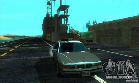 BMW 750i E38 para GTA San Andreas vista traseira