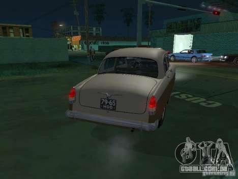 Táxi de gás M21T para GTA San Andreas vista direita