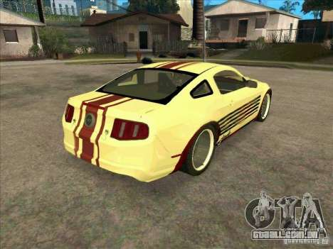 Ford Mustang Jade from NFS WM para GTA San Andreas vista direita