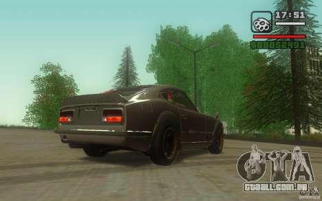 Datsun 240ZG para GTA San Andreas vista direita