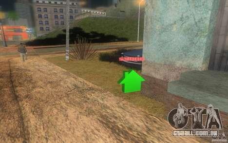 A casa de verde para GTA San Andreas terceira tela