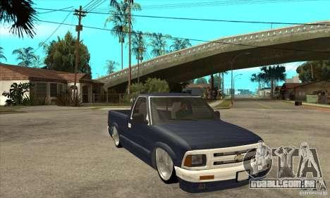Chevrolet S-10 1996 Draggin para GTA San Andreas vista traseira