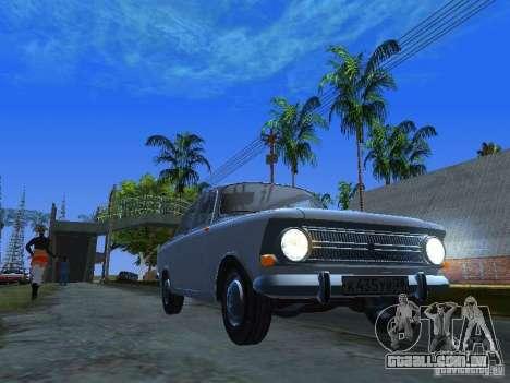AZLK-412 para GTA San Andreas vista traseira