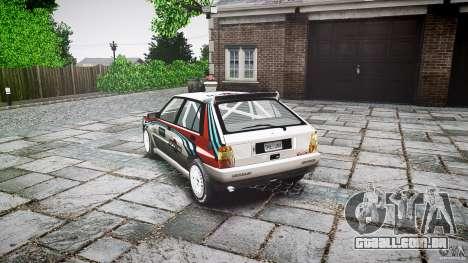 Lancia Delta Integrale Martini 1992 para GTA 4 traseira esquerda vista