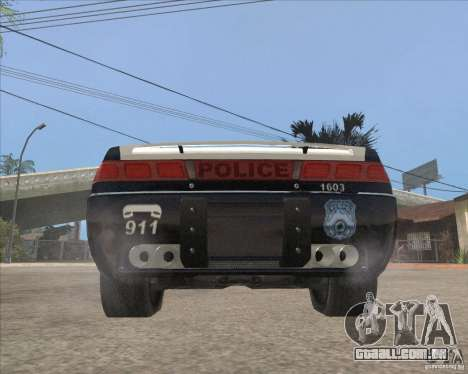 Police NFS UC para GTA San Andreas vista traseira