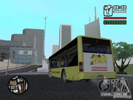 LAZ apresentado (SitiLAZ 10) para GTA San Andreas traseira esquerda vista