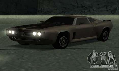 Caçador de cavalaria de Burnout Paradise para GTA San Andreas traseira esquerda vista