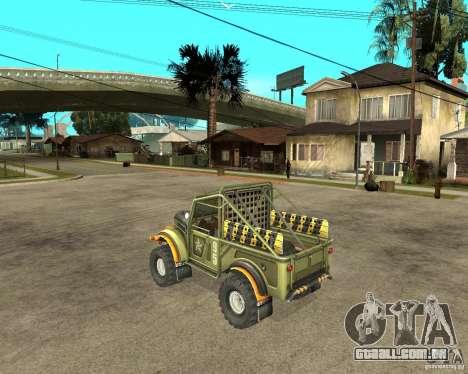 GAZ 69 julgamento para GTA San Andreas esquerda vista