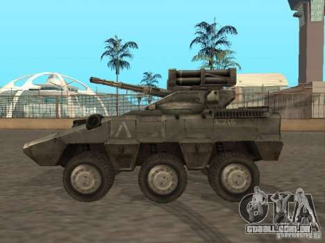 APC Anti-Air para GTA San Andreas esquerda vista