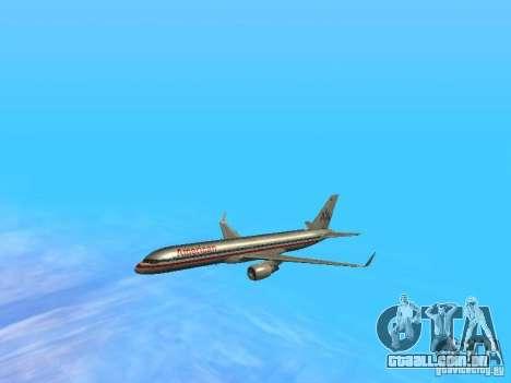 Boeing 757-200 American Airlines para GTA San Andreas vista superior