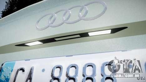 Audi RS6 2010 para GTA 4 vista interior
