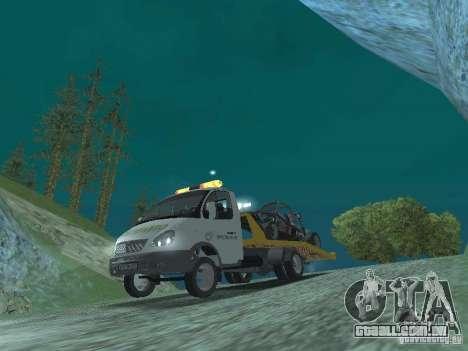 GAZ 3302 2003-2011. Caminhão de reboque para GTA San Andreas vista traseira
