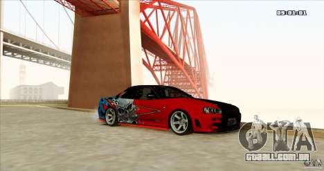 Nissan Skyline R34 Evil Empire para GTA San Andreas vista direita
