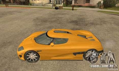 Koenigsegg CCX (v1.0.0) para GTA San Andreas esquerda vista