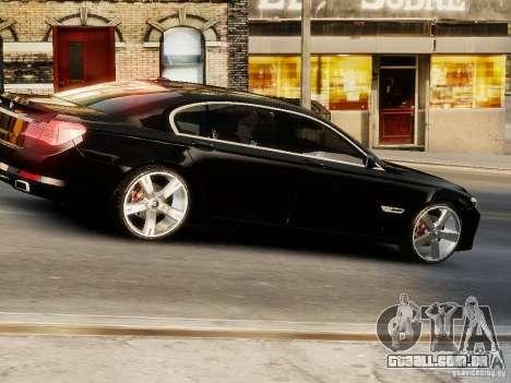 BMW 750 LI 2010 para GTA 4 vista direita