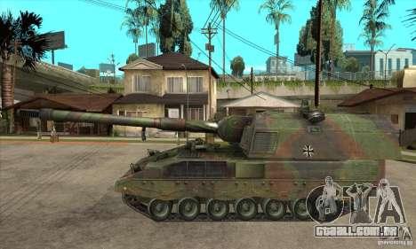 Panzerhaubitze 2000 para GTA San Andreas esquerda vista