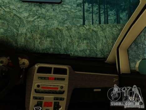 Fiat Grande Punto CLD Style para GTA San Andreas traseira esquerda vista