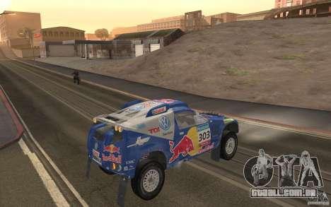 Volkswagen Race Touareg para GTA San Andreas vista direita