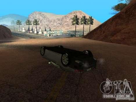 Não queimam carros tombados para GTA San Andreas